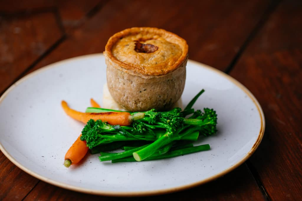 Roast Lamb, Mint & Vegetable Pie